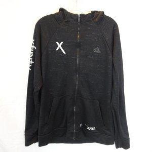 Adidas Branded Full Zip Space Dye Lightweight Hoodie Jacket M